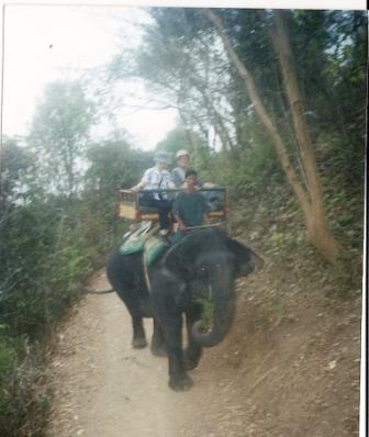 Ridetur på elefant