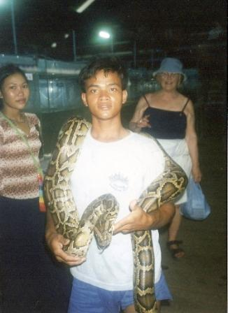 Ved slangemiddagen