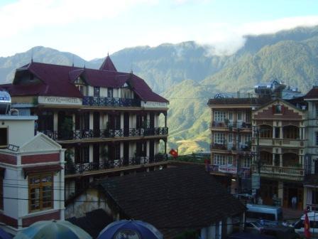 Udsigt fra vores hotel I Bac Ha