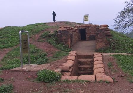 Skyttegrave fra det berømte slag.