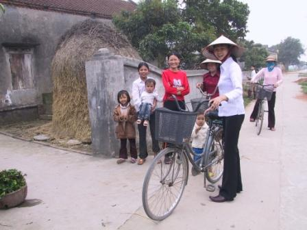 I landsbyen Phu Cu