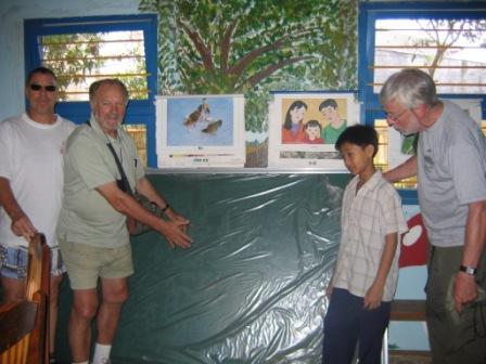Tavle til skole i Village of hope