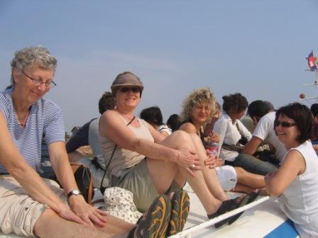Bådtur fra Phnom til Siem Riep