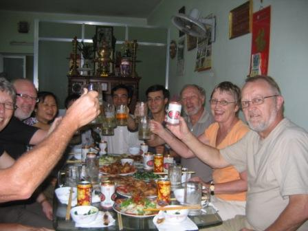 Aftensmad hos Hoang