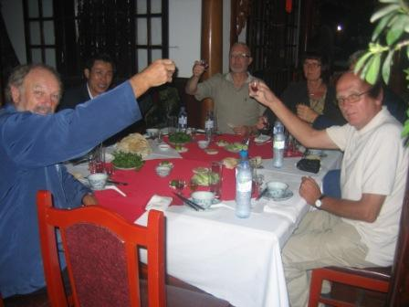 Slangerestaurant i Hanoi
