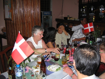 Fra fest på Hai Yen hotellet