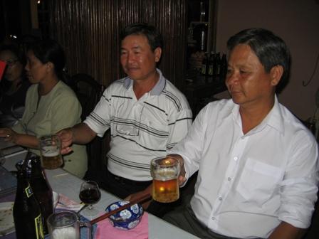 Fra party på Hai Yen hotellet