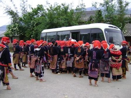 Ankomst Rød Dzao landsby