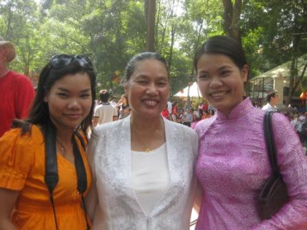 Trang, moder og KieunAnh
