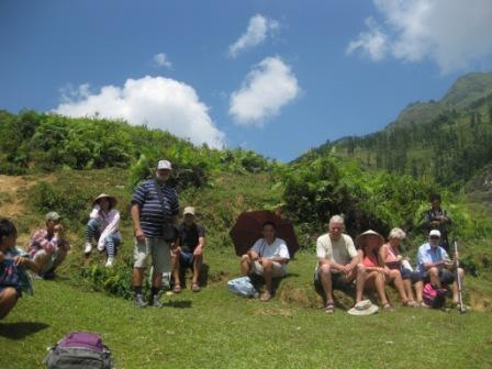 Gruppen på trekking