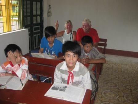 Mai Chau skole med Annelise W og Poul Erik