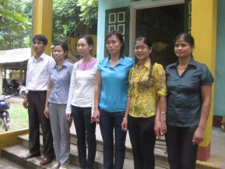 Lærerne på Mai Chau skole.