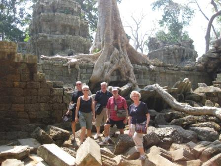 Gruppen ved Ta Phrom