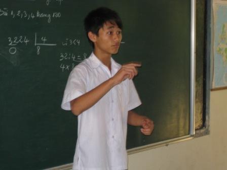 Phuc får undervisning