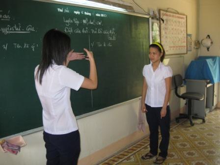 Chau og en anden elev