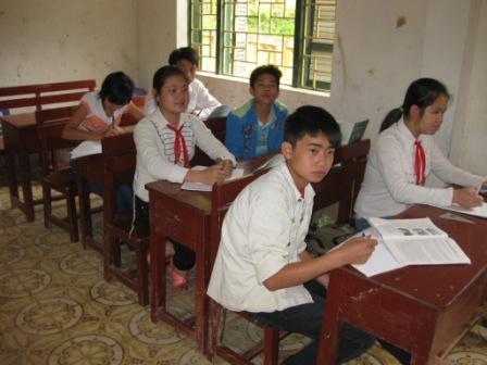 Skoleklasse i Mau Chau