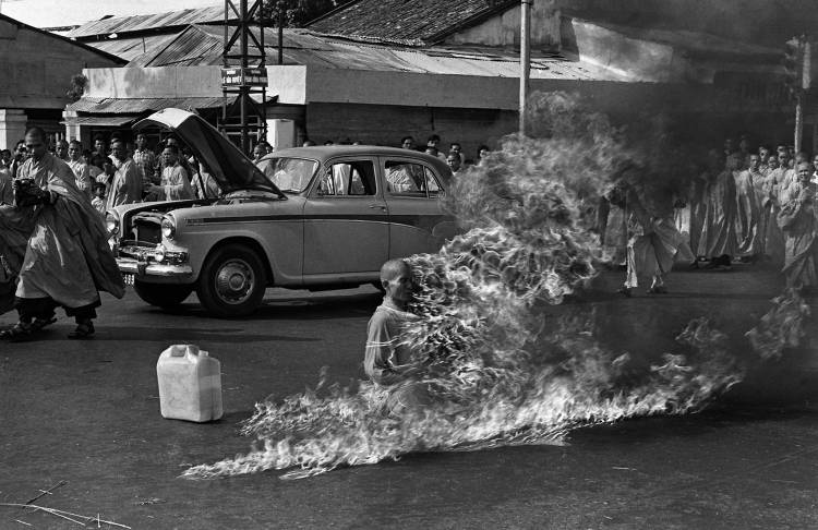 The burning monk in Saigon