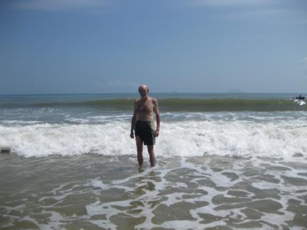 Erik ved stranden