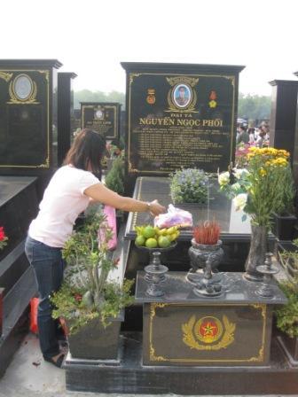 Houng ved begravelsesplads