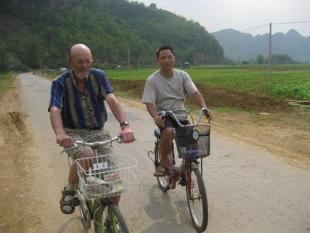 På den hårde cykeltur