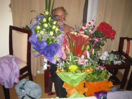 Blomster fra Hennings fødselsdag