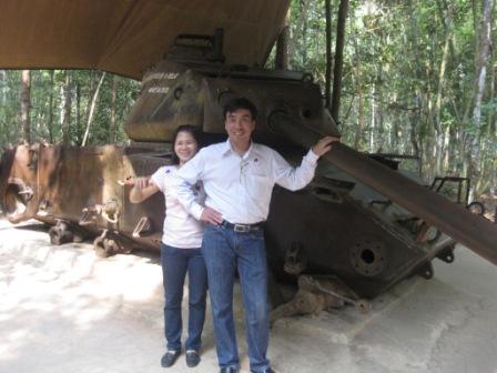 Hope og Houng ved Cu Chi
