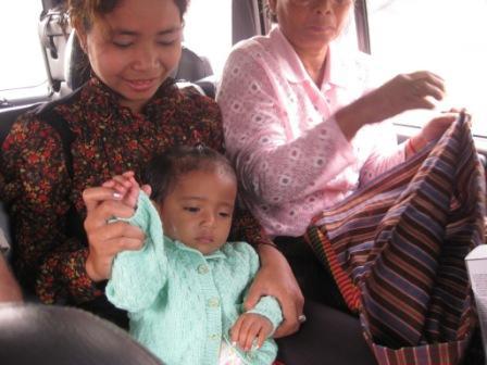 I bilen Ratha og datter og Sarun