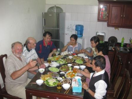 Spisning hos Thu