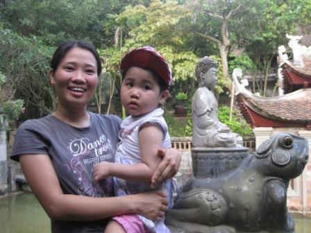 Thuy og datter Linh