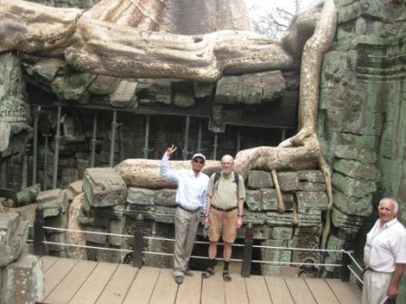 Sambatch og Erik ved Ta Phrom