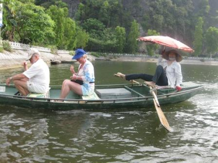 Georg og Inge på bådtur