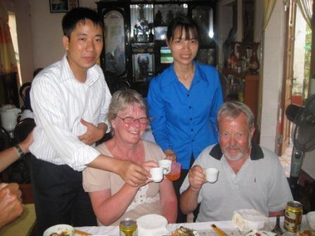 Huys barndomhjenm: Thu Anh,Inge, Huy og Georg